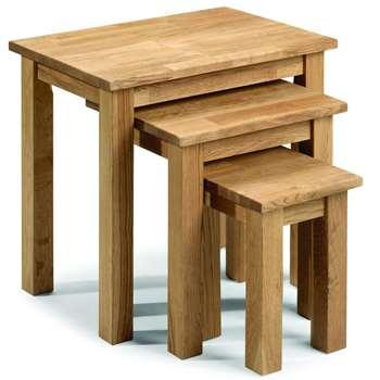 Julian Bowen Coxmoor Solid Oak Nest of Tables (Width 50cm)