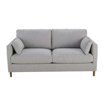 JULIAN Light Grey 3-Seater Sofa (86 x 180cm)