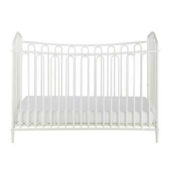 Juliette Off-White Metal Baby Cot (H91 x W126 x D65cm)