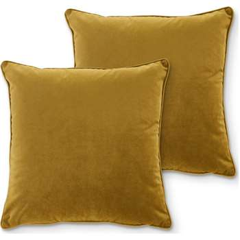 Julius Set of 2 Velvet Cushions, Antique Gold (H45 x W45cm)