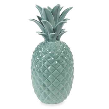 JUNGLE ceramic pineapple ornament, green (24 x 11cm)