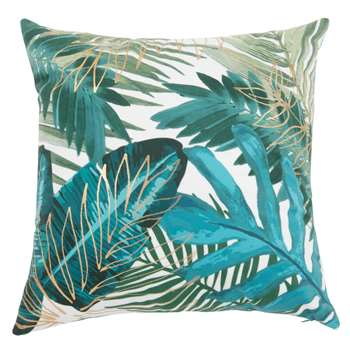 JUNGLE - Green Jungle Print Cushion Cover (H40 x W40cm)