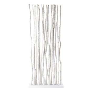 JUNGLE teak folding screen in white (H180 x W87 x D20cm)