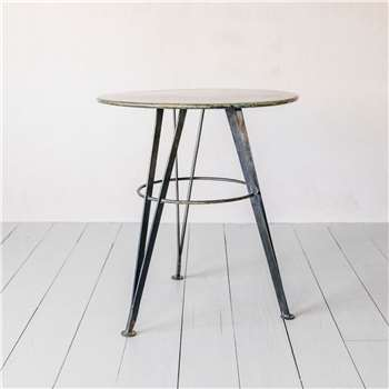 Juno Antique Nickel Café Table (H67 x W60 x D60cm)