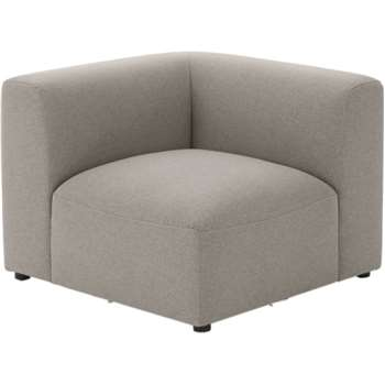 Juno Modular Corner End Seat, Manhattan Grey (65 x 85cm)