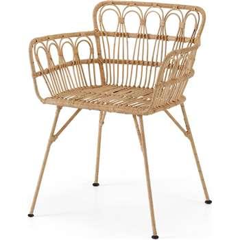 Jurupa Dining Chair, Natural Cane (H78 x W60 x D55cm)