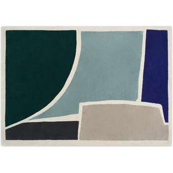 Juula Large Hand Tufted Wool Rug, Blue (H160 x W230cm)