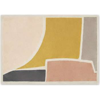 Juula Large Hand Tufted Wool Rug, Pink (H160 x W230cm)