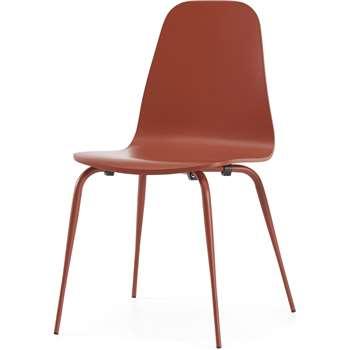 Juvia Dining Chair, Cayenne (H82 x W49 x D48cm)