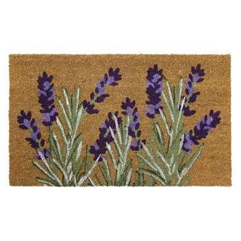 JVL Lavender Latex Coir Doormat (H45 x W75 x D1.5cm)