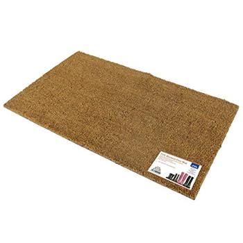 JVL Plain Natural 100% Coir PVC Backed Entrance Door Mat (40 x 70cm)