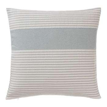 Kadan Cushion Cover, Grey Green With Cream Stripes (50 x 50cm)