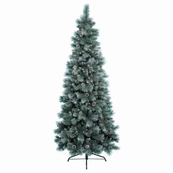 Kaemingk - 6ft Green Frosted Norwich Pine Christmas Tree (H180 x W89cm)