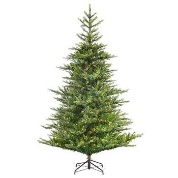 Kaemingk - 7ft Green Frosted Norwich Pine Christmas Tree (H210 x W99cm)