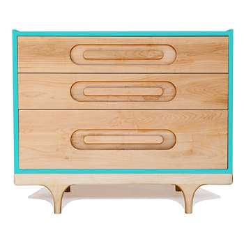 Kalon Studios Kids Caravan Dresser in Maple & Blue (75 x 92cm)