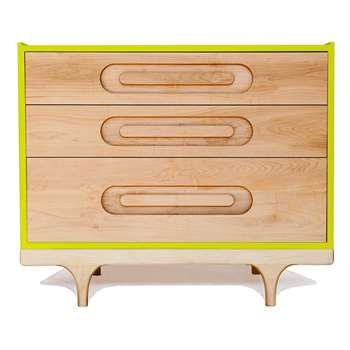 Kalon Studios Kids Caravan Dresser in Maple & Green (75 x 92cm)