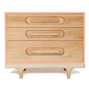 Kalon Studios Kids Caravan Dresser in Maple & Pink (75 x 92cm)