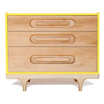 Kalon Studios Kids Caravan Dresser in Maple & Yellow (75 x 92cm)