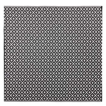 KAMARI Outdoor Rug with Black and White Graphic Print (H180 x W180cm)