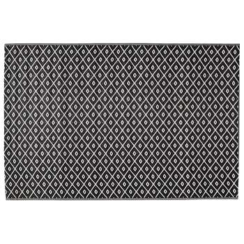 KAMARI polypropylene outdoor rug in black & white (120 x 180cm)
