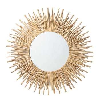 KAMPAR Driftwood Round Mirror (Diameter 110cm)