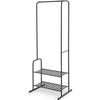 Kane Steel Garment & Storage Rack, Black (H174 x W62 x D46cm)