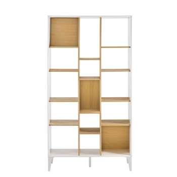 KARA Natural-colour and white shelf 185 x 100cm