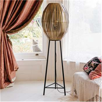 Karina Antique Bronze Floor Lamp (H137 x W42 x D42cm)