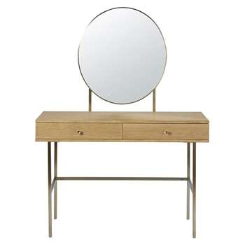 KARLA - 2-Drawer Dressing Table (H155 x W110 x D42cm)