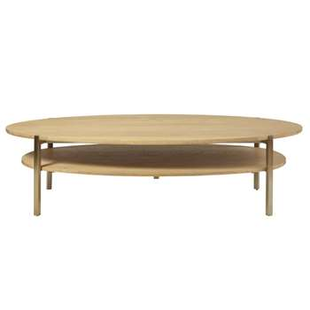 KARLA - Oval Coffee Table with Two Surfaces (H40 x W150 x D70cm)