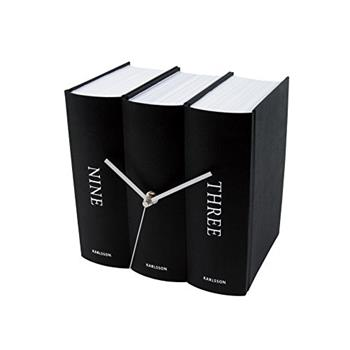 KARLSSON Book Table Clock, Black