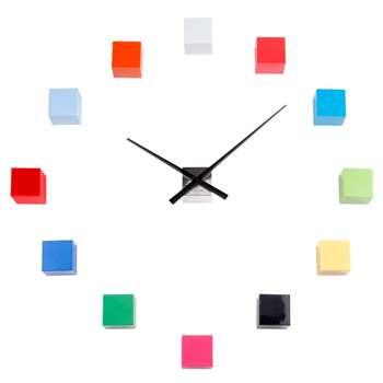 Karlsson DIY Cubic Wall Clock - Multi Colour