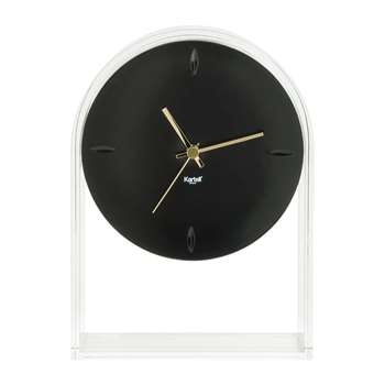 Kartell - Air Du Temps Clock - Crystal/Black (H30 x W21.5 x D8cm)