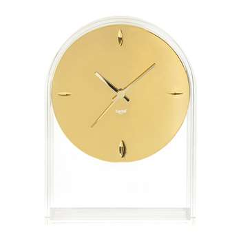 Kartell - Air Du Temps Clock - Crystal/Gold (H30 x W21.5 x D8cm)