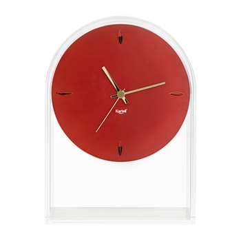Kartell - Air Du Temps Clock - Crystal/Red (H30 x W21.5 x D8cm)