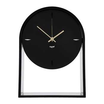 Kartell - Air Du Temps Clock - Matt Black (H30 x W21.5 x D8cm)