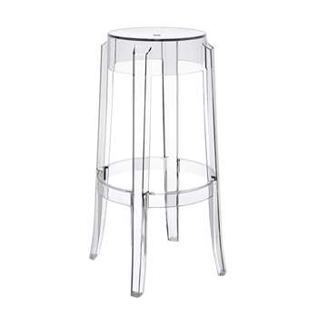 Kartell - Charles Ghost Stool - Crystal - 75cm (H75 x W45 x D45cm)