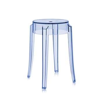 Kartell - Charles Ghost Stool - Light Blue - 46cm (H45.5 x W45.5 x D45.5cm)
