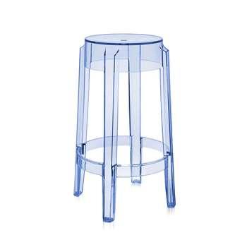 Kartell - Charles Ghost Stool - Light Blue - 65cm (H64.5 x W45 x D45cm)