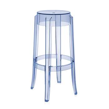 Kartell - Charles Ghost Stool - Light Blue - 75cm (H75 x W45 x D45cm)