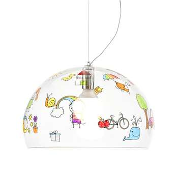 Kartell - Children's FL/Y Ceiling Light - Sketch - Medium (H33 x W52 x D52cm)