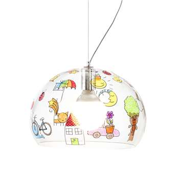 Kartell - Children's FL/Y Ceiling Light - Sketch - Mini (H28 x W38 x D38cm)