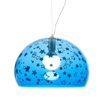 Kartell - Children's FL/Y Ceiling Light - Stars - Blue (H33 x W52 x D52cm)