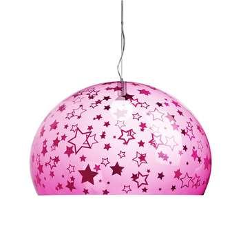 Kartell - Children's FL/Y Ceiling Light - Stars - Pink (H33 x W52 x D52cm)