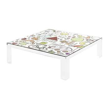 Kartell - Children's Invisible Table - Transparent Drawing (H55 x W100 x D100cm)