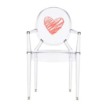 Kartell - Children's Lou Lou Ghost Chair - Heart (62 x 39.6cm)