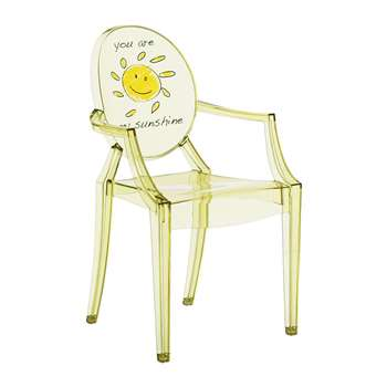 Kartell - Children's Lou Lou Ghost Chair - Sun (H62 x W39.6 x D36.5cm)