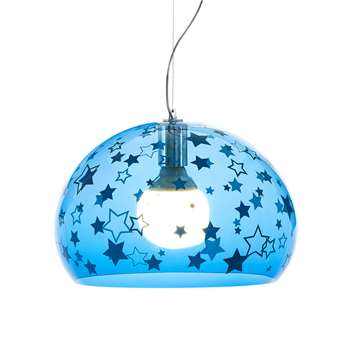 Kartell - Children's Mini FL/Y Ceiling Light - Stars - Blue (H28 x W38 x D38cm)