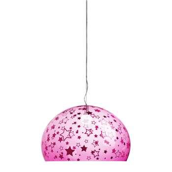 Kartell - Children's Mini FL/Y Ceiling Light - Stars - Pink (H28 x W38 x D38cm)