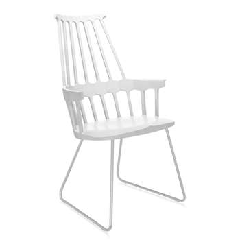 Kartell - Comback Sled Chair - White (100 x 58cm)